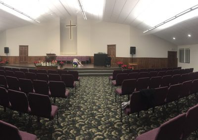 28. Setting up for church #2